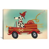 iCanvas K9 Fire Department 26-Inch x 40-Inch Canvas Wall Art