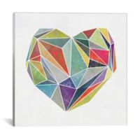 iCanvas Heart Graphic 37-Inch Square Canvas Wall Art
