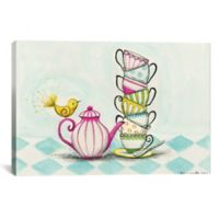 iCanvas Tea Party Birdy 12-Inch x 18-Inch Canvas Wall Art