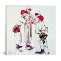 iCanvas Norman Rockwell Choosing Up 18-Inch Square Canvas Wall Art