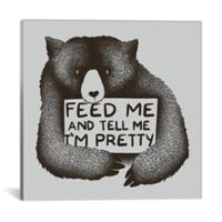 iCanvas Feed Me and Tell Me I'm Pretty 12-Inch Square Canvas Wall Art