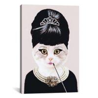 iCanvas Audrey Hepburn Cat 12-Inch x 18-Inch Canvas Wall Art