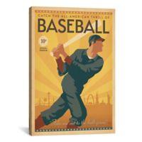 iCanvas Baseball Across America 26-Inch x 18-Inch Canvas Wall Art