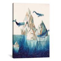iCanvas Whale Iceberg 40-Inch x 60-Inch Canvas Wall Art