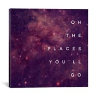 """iCanvas """"Oh the Places You'll Go"""" 37-Inch Square Canvas Wall Art"""
