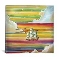 iCanvas Off to Neverland 26-Inch Square Canvas Wall Art