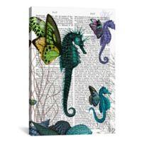 iCanvas Seahorse Trio with Wings 18-Inch x 26-Inch Canvas Wall Art