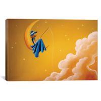 iCanvas Blue Moon 12-Inch x 18-Inch Canvas Wall Art