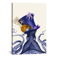 iCanvas Octopus Nautical Hat 12-Inch x 18-Inch Canvas Wall Art