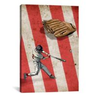 iCanvas American Sports Baseball ll 26-Inch x 18-Inch Canvas Wall Art