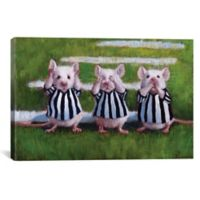 iCanvas Three Blind Mice 12-Inch x 18-Inch Canvas Wall Art