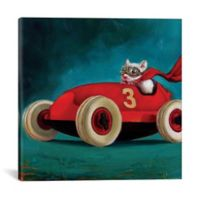 iCanvas Speed Racer 26-Inch Square Canvas Wall Art