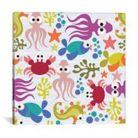 iCanvas Under the Sea 12-Inch Square Canvas Wall Art