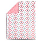 The Peanut Shell® Aztec-Style Velour Blanket in Pink