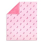 The Peanut Shell® Flamingo Velour Blanket in Pink