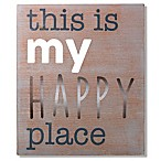 "Wendy Bellissimo™ ""My Happy Place"" Wood Wall Art"