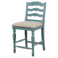 Linon Home Melva Counter Stool in Blue