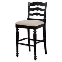 Linon Home Melva Bar Stool in Black