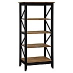 Manhattan Comfort Jay 31.5-Inch Wood Bookcase in Black Wash
