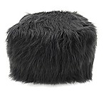 Lounge & Co Faux Fur Pouf Ottoman in Grey