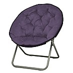 Urban Lounge Oversized Saucer Club Chair in Purple
