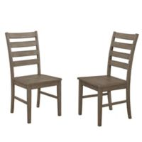 Forest Gate Henderson ContemporaryWood Ladder Back Dining Chairs in Aged Grey