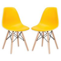 Poly and Bark Vortex Side Chair in Yellow (Set of 2)
