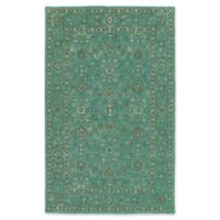 Kaleen Weathered Khobar Indoor/Outdoor 4-Foot x 6-Foot Area Rug in Turquoise