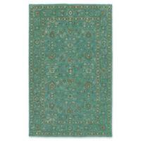 Kaleen Weathered Khobar Indoor/Outdoor 8-Foot x 10-Foot Area Rug in Turquoise
