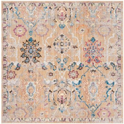 safavieh bristol simone 7foot square area rug in camel