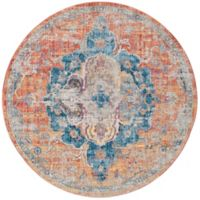 Safavieh Bristol Olivia 7-Foot Round Area Rug in Orange