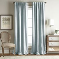 Simone 63-Inch Rod Pocket/Back Tab Room Darkening Window Curtain Panel in Aqua