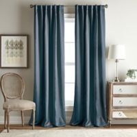 Simone 84-Inch Rod Pocket/Back Tab Room Darkening Window Curtain Panel in Blue