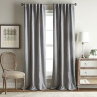 Simone 95-Inch Rod Pocket/Back Tab Room Darkening Window Curtain Panel in Silver
