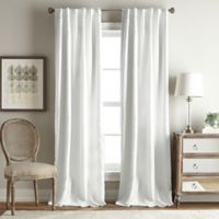 Simone 63-Inch Rod Pocket/Back Tab Room Darkening Window Curtain Panel in White