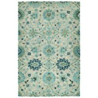 Kaleen Agra 2' x 3' Handwoven Accent Rug in Turquoise