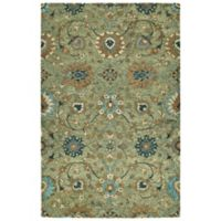 Kaleen Agra 2' x 3' Handwoven Accent Rug in Sage