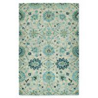 Kaleen Agra 4' x 6' Handwoven Area Rug in Turquoise