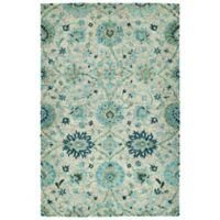 Kaleen Agra 5' x 7'9 Handwoven Area Rug in Turquoise