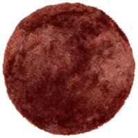 Kaleen It's So Fabulous 8' Round Shag Area Rug in Cinnamon