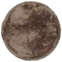 Kaleen It's So Fabulous 8' Round Shag Area Rug in Brown
