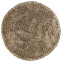 Kaleen It's So Fabulous 8' Round Shag Area Rug in Chino