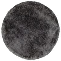 Kaleen It's So Fabulous 8' Round Shag Area Rug in Charcoal