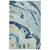 Kaleen Marble Orbit 2-Foot x 3-Foot Accent Rug in Blue