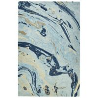 Kaleen Marble Orbit 3-Foot 6-Inch x 5-Foot 6-Inch Area Rug in Blue