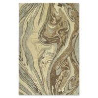 Kaleen Marble Topography 9'6 x 13' Area Rug in Sand
