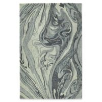 Kaleen Marble Topography 2' x 3' Accent Rug in Grey