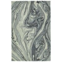 Kaleen Marble Topography 5' x 7'9 Area Rug in Grey