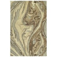 Kaleen Marble Topography 5' x 7'9 Area Rug in Sand