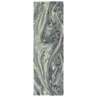 Kaleen Marble Topography 2'6 x 8' Area Rug in Grey